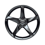Cast aluminium wheel in 5-arm turbo design, black-gloss finish, 9 J x 19