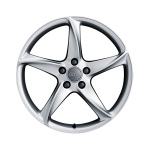 Cast aluminium wheel in 5-arm turbo design, royal silver, 9 J x 19