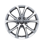 Cast aluminium wheel in 5-V-spoke design, brilliant silver, 7.5 J x 17