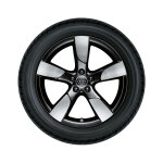 Complete summer wheel in durable design, black, high-gloss turned finish, 8.5 J x 19, 255/35 R19 96Y XL
