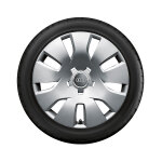 Complete steel winter wheel with full wheel cover, 7 J x 16, 205/60 R16 92H