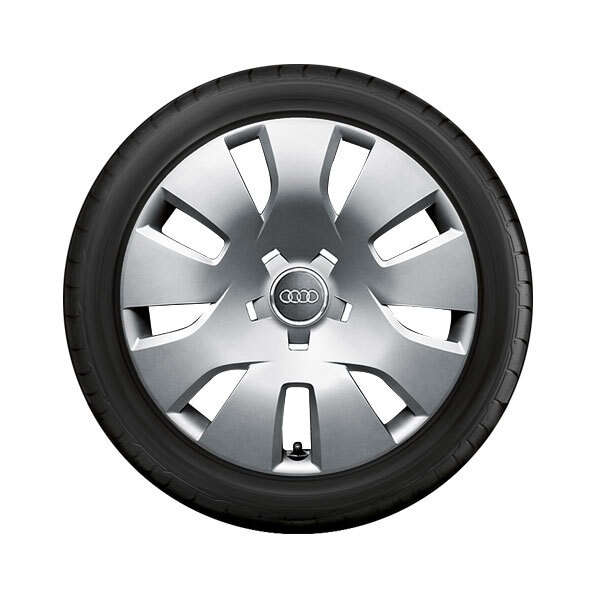 Complete steel winter wheel with full wheel cover, brilliant silver, 7 J x 16, 205/60 R 16 92H