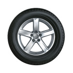 Complete winter wheel in 5-arm design, brilliant silver, 7 J x 16, 225/55 R16 95H, right