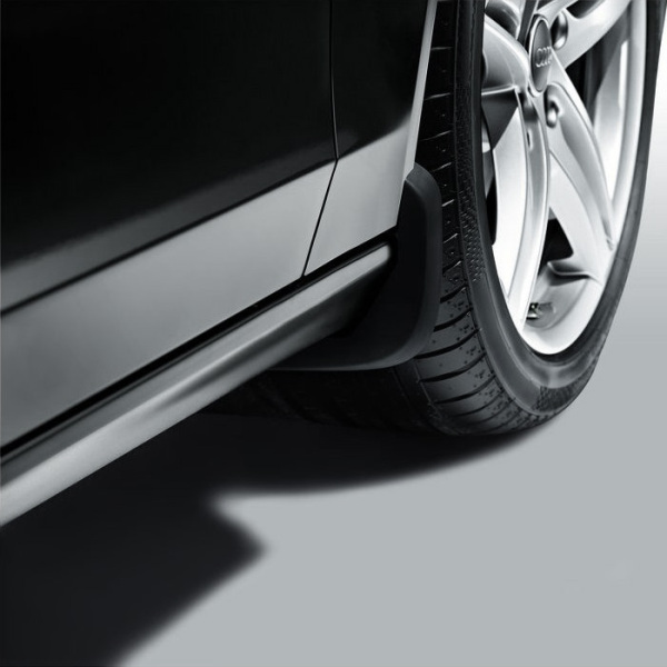 Mud flaps, for the front, for vehicles with a plastic wheel housing liner