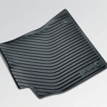 Rubber floor mats, for the front, black