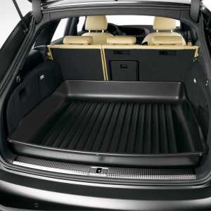 Luggage compartment tray