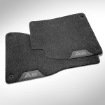 Deep-pile textile floor mats, for the front, titanium grey