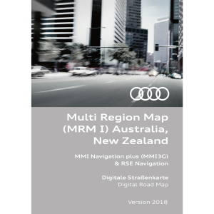 Navigation update, version 2018 for Australia and New Zealand (MMI 3G HDD)