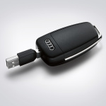 Audi USB memory key, 8 GB, in black