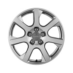Forged aluminium winter wheel in 7-spoke design, brilliant silver, 7 J x 17