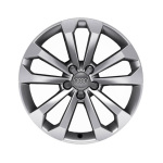 Cast aluminium winter wheel in 5-V-spoke design, brilliant silver, 8 J x 18