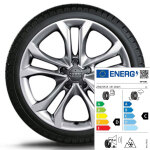 Complete winter wheel in 5-arm parallel-spoke design, brilliant silver, 7 J x 19, 235/55 R19 101H