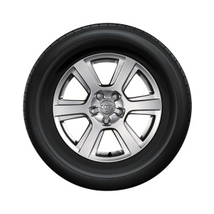 Complete winter wheel in 6-arm design, brilliant silver, 7 J x 17, 225/65 R17 102H