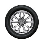 Complete winter wheel in 5-V-spoke design, brilliant silver, 8 J x 18, 235/60 R18 107H XL, right