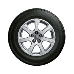 Complete winter wheel in 7-spoke design, forged, brilliant silver, 7 J x 17, 235/65 R17 104H, left