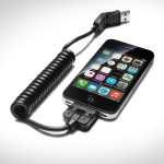 USB adapter cable, for mobile devices with an Apple dock connector