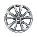 Cast aluminium winter wheel in 5-arm falx design, brilliant silver, 7 J x 17