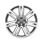 Cast aluminium winter wheel in 7-twin-spoke design, galvanic silver, metallic, 8.5 J x 18