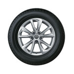 Winterkomplettrad im 5-Arm-Falx-Design, brillantsilber, 7 J x 17, 225/50 R 17 98H XL, links