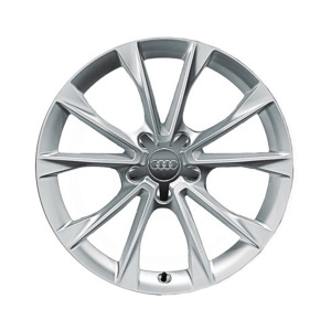 Cast aluminium winter wheel in 5-V-spoke design, brilliant silver, 8.5 J x 18