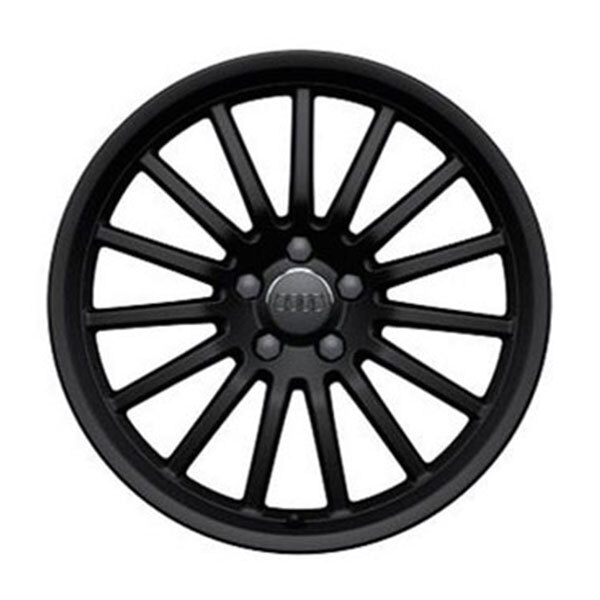 Cast aluminium wheel in 15-spoke design, matt black, 9 J x 19
