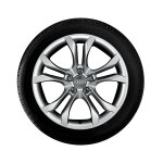 Complete winter wheel in 5-parallel-spoke S design, brilliant silver, 8 J x 18, 245/40 R18 97V XL
