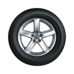 Complete winter wheel in 5-arm design, brilliant silver, 7.5 J x 17, 225/50 R17 94H, right