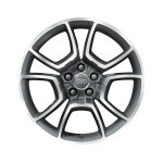 Cast aluminium wheel in 5-arm pila design, anthracite, high-gloss turned finish, 8.5 J x 19