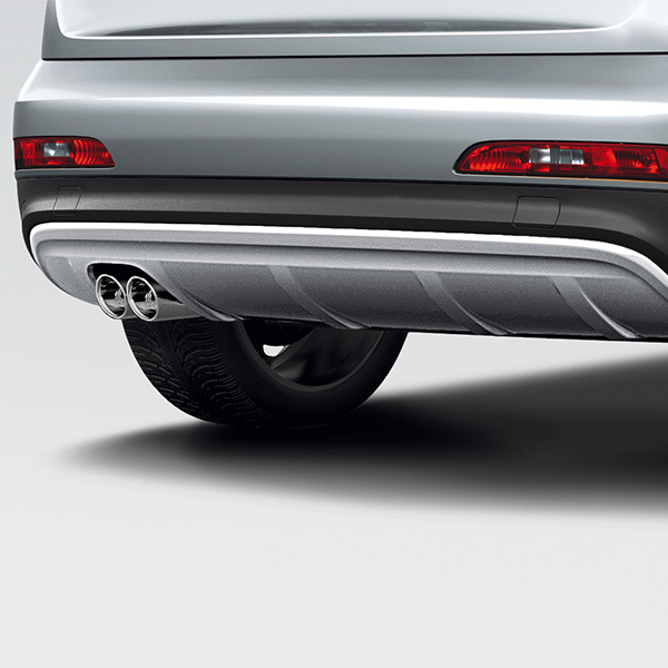offroad style package, rear bumper, for vehicles without the parking system, without park assist and without the trailer towing hitch, stone grey