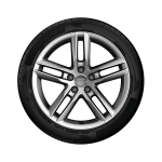 Complete summer wheel in 5-twin-spoke design, high gloss, 7 J x 18, 235/50 R 18 97V