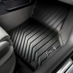 Rubber floor mats, for the rear, with clip, black
