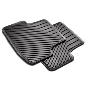 Rubber floor mats, for the rear, without clip, black