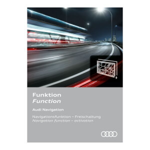 Activation of navigation function, for Europe and vehicles with the preparation for the navigation system