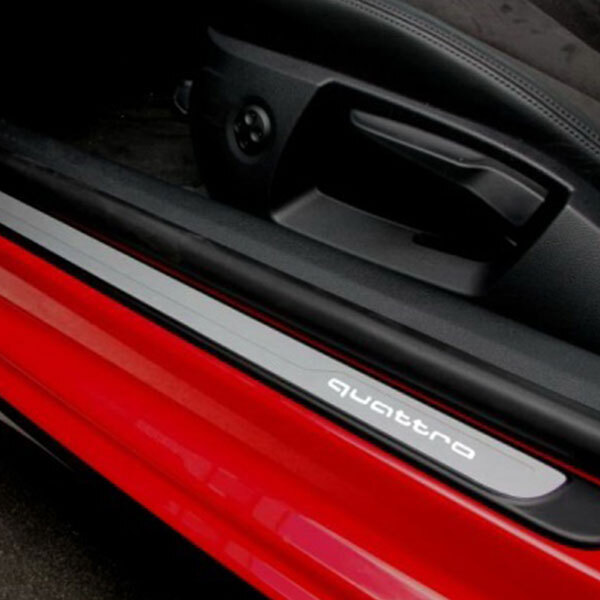 Door sills, illuminated, with the quattro logo