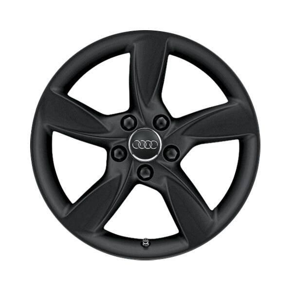 Cast aluminium winter wheel in 5-arm helica design, matt black, 6 J x 17