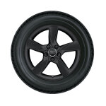 Complete winter wheel in 5-arm helica design, matt black, 6 J x 17, 205/50 R17 93H XL, left