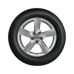 Complete winter wheel in 5-arm helica design, brilliant silver, 6 J x 17, 205/50 R17 93H XL, left
