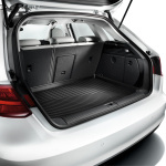 Luggage compartment shell, for Saloon models with front-wheel drive or with quattro drive and a repair kit