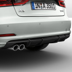 Rear diffuser, for vehicles with a single tailpipe on the left, matt black