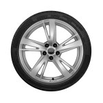 Complete winter wheel in 5-arm blade design, galvanic silver, metallic,  8 J x 19, 235/35 R19 91V XL, right