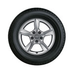 Winterkomplettrad im 5-Arm-Rotor-Design, brillantsilber, 6,5 J x 16, 205/55 R 16 91H, links