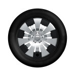 Complete steel winter wheel with full wheel cover, brilliant silver, 6.5 J x 16, 205/55 R16 91H, left