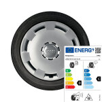 Complete steel winter wheel with full wheel cover, brilliant silver, 6.5 J x 16, 205/55 R 16 91H, left