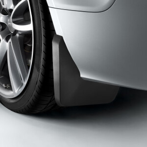 Mud flaps, for the front, for vehicles without a stone-chip guard strip