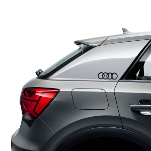 Audi rings decals, brilliant black