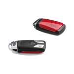 Key cover tango red, with Audi rings, for keys without chrome clip