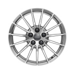 Cast aluminium winter wheel in 15-spoke design, brilliant silver, 7.5 J x 17