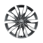 Cast aluminium wheel in 10-spoke dynamic design, brilliant silver, 8 J x 18