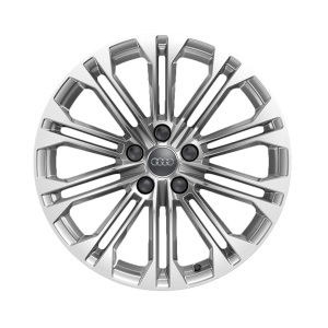 Cast aluminium winter wheel in 10-parallel-spoke design, brilliant silver, 8 J x 18