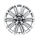 Cast aluminium wheel Audi Sport in 10-V-spoke design, galvanic silver, metallic, high-gloss turned finish, 8.5 J x 19